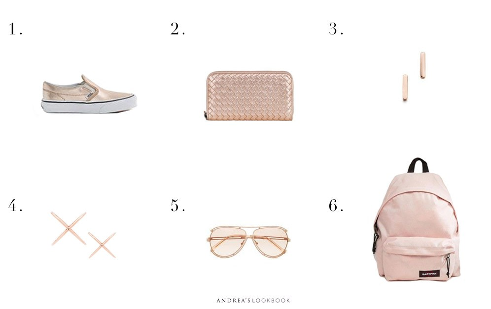 six things rose gold